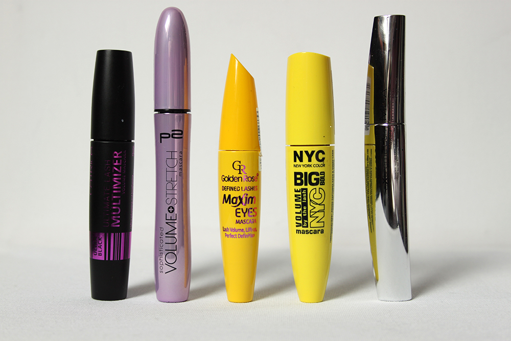 Review NYC, MUA, Catrice, Golden Rose en P2 mascara