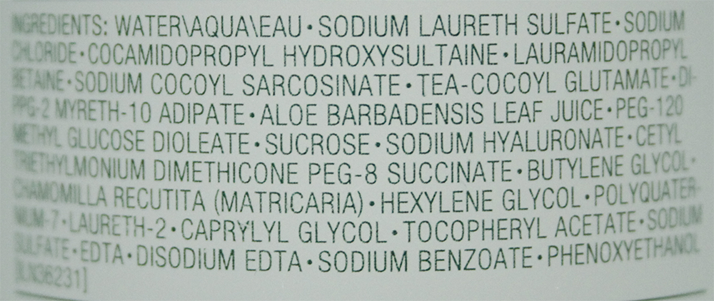 ingrediënten Clinique Liquid Facial Soap