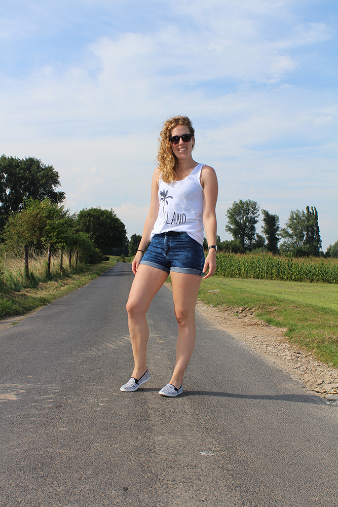 Outfit - Highwaisted shorts H&M