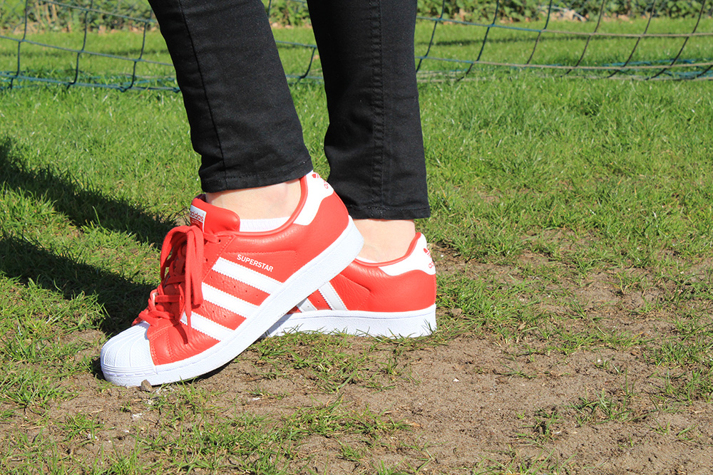 Rode Adidas Superstar Originals