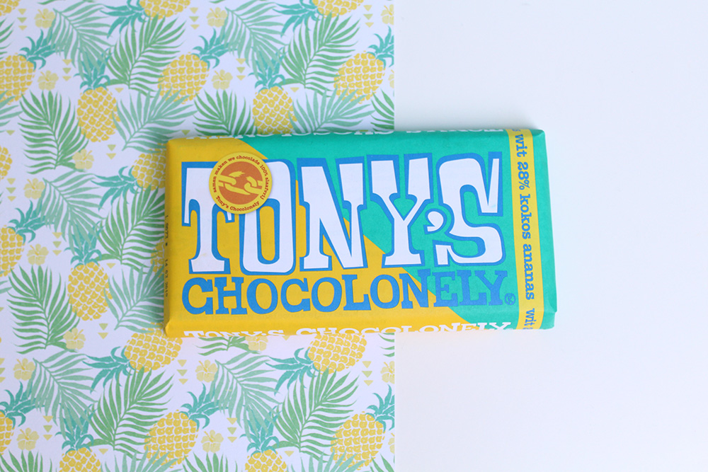 Tony's Chocolonely wit kokos ananas